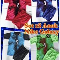 Kaos baju jersey sepak bola dan futsal anak NIKE GALAXY 1 set stel
