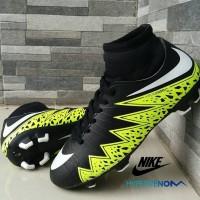 Sepatu Sepak Bola Nike Soccer Hypervenom High Hitam Hijau Football