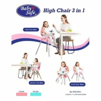 Baby Safe High Chair 3 in 1 HC05 / Kursi Makan Anak / Kursi Makan Bayi