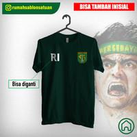 Kaos Distro Persebaya bisa custom Inisial Nama - T Shirt Persebaya