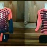 kaos futsal kiper setelan jersey bola baju olahraga