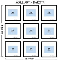 Neoframe - 9pcs Bingkai Foto / Pigura Wall Art seri DAKOTA