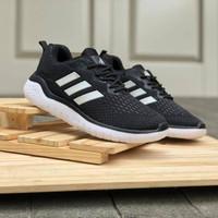 Adidas Climacool Running / Black White / Sepatu Pria Casual Lari Gym