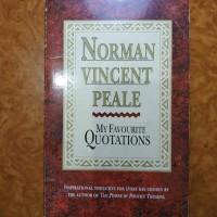 Buku My Favourite Quatations - Norman Vincent Peale