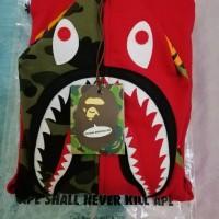 Bape Shark Half Camo Hoodie Full Zip