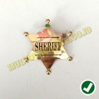 Pin Sherif - Lencana Pin Logo Sheriff Bahan Kuningan Ukuran 7X6 Cm