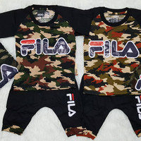 Baju Setelan Anak Bayi Laki laki Army Tentara Fila
