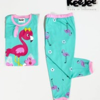 Baju anak (Pajamas) gambar Flaminggo - Ukuran 4 - 10