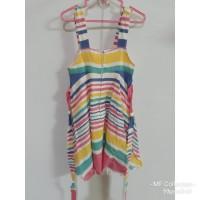 Baju bekas -Dress anak pelangi second / bekas / preloved