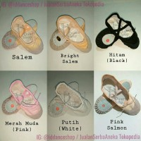 Sepatu Balet Ballet Shoes Split Sole dengan Suede Ukuran Dewasa