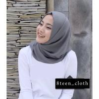 8TEEN T-shirt Kaos Wanita Lengan Panjang Polos Warna Putih Cotton