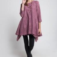 Wakhra Swag - Loretta Boho Style Lace Top/Atasan brukat model bohemian - Purple, S