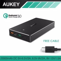 Aukey Quick Charge Qualcomm 3 0 Powerbank PB T10 20000mAh Black