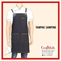 Apron Barista - Jeans (synthetic leather)