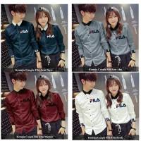 baju couple murah simple kemeja kopel baru berkualitas polos FILA ARM