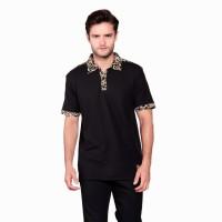 Kaos Polo Batik Pria Heritage Hitam