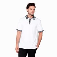 Kaos Polo Batik Pria Heritage Putih