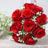 bunga plastik hias artificial handbouquet hand bouquet + BABY BREATH 1