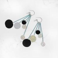 Anting Korea Tassel Color Nightclubs Earrings AGS338