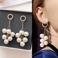 Anting Korea Multi Pearl Tassel Earrings J41217
