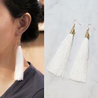 Anting Korea Bohemian Retro Tassel Ear Hook Earrings J41108