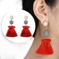 Anting Korea Tassel Earrings Ball Diamond Hooks AP3482