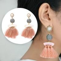 Anting Korea Tassel Earrings Ball Diamond Hooks AP3483