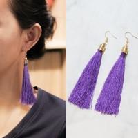 Anting Korea Bohemian Retro Tassel Ear Hook Earrings J41110