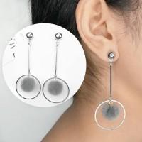 Anting Korea Ball Geometric Long Tassel Earrings AP2346