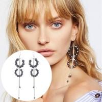 Anting Fashion Pearl Circle Tassel Earrings AP2045