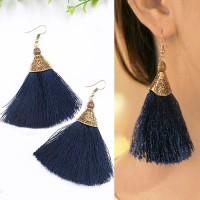 Anting Korea Bohemian Long Paragraph Tassel Earrings JN1050