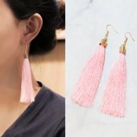 Anting Korea Bohemian Retro Tassel Ear Hook Earrings J41109