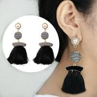Anting Korea Tassel Earrings Ball Diamond Hooks AP3484