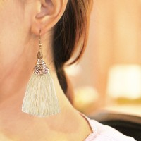 Anting Korea Bohemian Long Paragraph Tassel Earrings JN1054