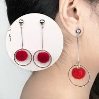 Anting Korea Ball Geometric Long Tassel Earrings AP2348