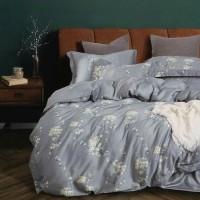 bed cover set tencel organik aneka motif warna abu 160x200 / 180x200