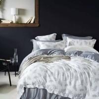 bed cover set tencel organik aneka motif warna abu super king 200x200
