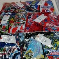 Baju renang anak laki KID 3 4 5 tahun karakter gambar superhero tulisa