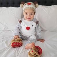 Reindeer baju natal set bayi anak balita christmas baju natal rusa