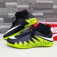 Sepatu Futsal Nike Hypervenom High Hitam Hijau List Putih Import Sport