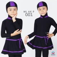 Baju Renang Anak Perempuan TK Muslimah Dengan Jilbab/Hijab Merek Edora - M