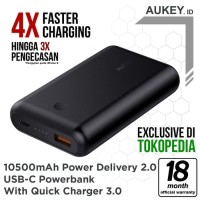 Fast Aukey PB XD10 10050mAh PD USB C Power Bank With Quick Charge 3 0