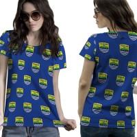 T Shirt Lengan Pendek Wanita PERSIB BANDUNG 3D FullPrint Art 4