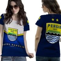T Shirt Lengan Pendek Wanita PERSIB BANDUNG 3D FullPrint Art 2