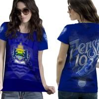 T Shirt Lengan Pendek Wanita PERSIB BANDUNG 3D FullPrint Art 1