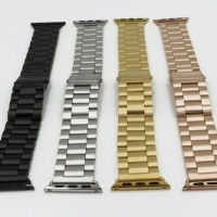 qo NEW strap apple watch stainless 3 link i wacth series 1 2 3