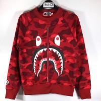 BAPE Color Camo Shark Crewneck Sweater - Red 100% Original