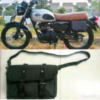 SIDE BAG tas motor Kawasaki W175 or Honda CB GL C70 Custom