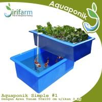 Jirifarm Paket Akuaponik Simpel#1 Include Bibit Ikan Nila dan Sayur