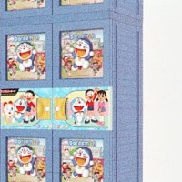 Lemari Plastik Gantung Jumbo Naiba 3D Kunci Doraemon